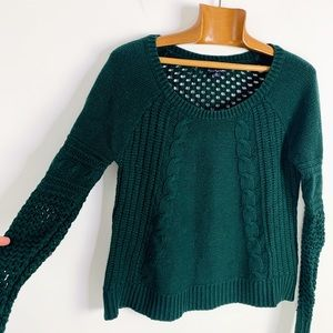 American eagle cotton wool cable knit sweater M